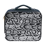Girls' Denim Lunch Bag with Faux Snakeskin Print Cover
