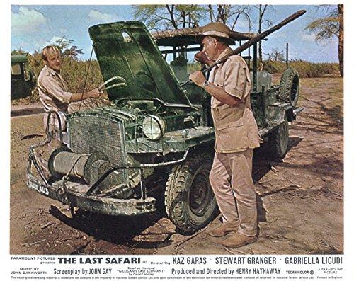 Hindmost Safari Original 8x10 Lobby Card Stewart Granger Kaz Garas With Jeep