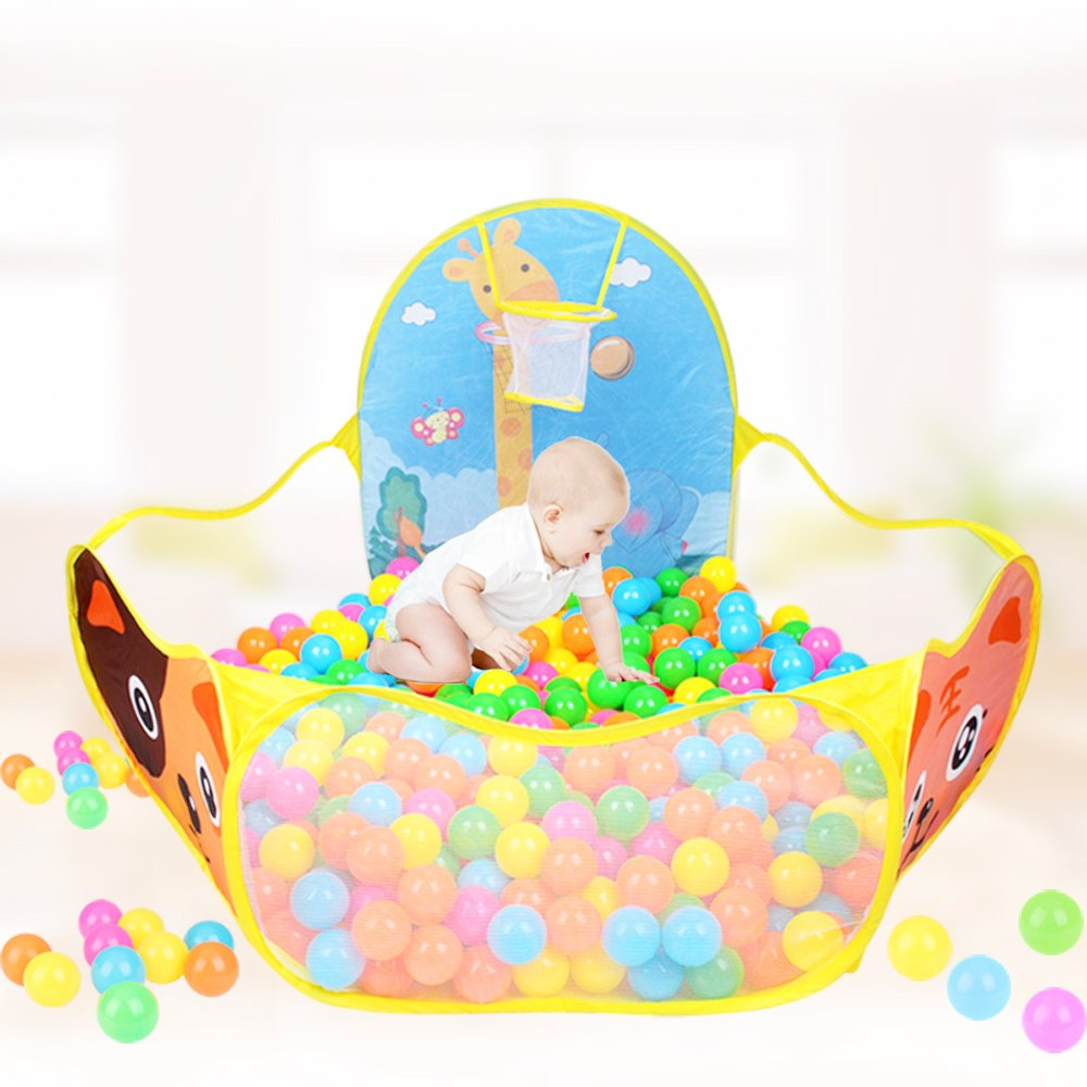 Amazon.com Play Tent with Basketball Hoop Baby Ball Pool  Aobik Cartoon Animals 1.2m Extra Large Portable Foldable Ball Pit Indoor and Outdoor Play House ...  sc 1 st  Amazon.com & Amazon.com: Play Tent with Basketball Hoop Baby Ball Pool  Aobik ...