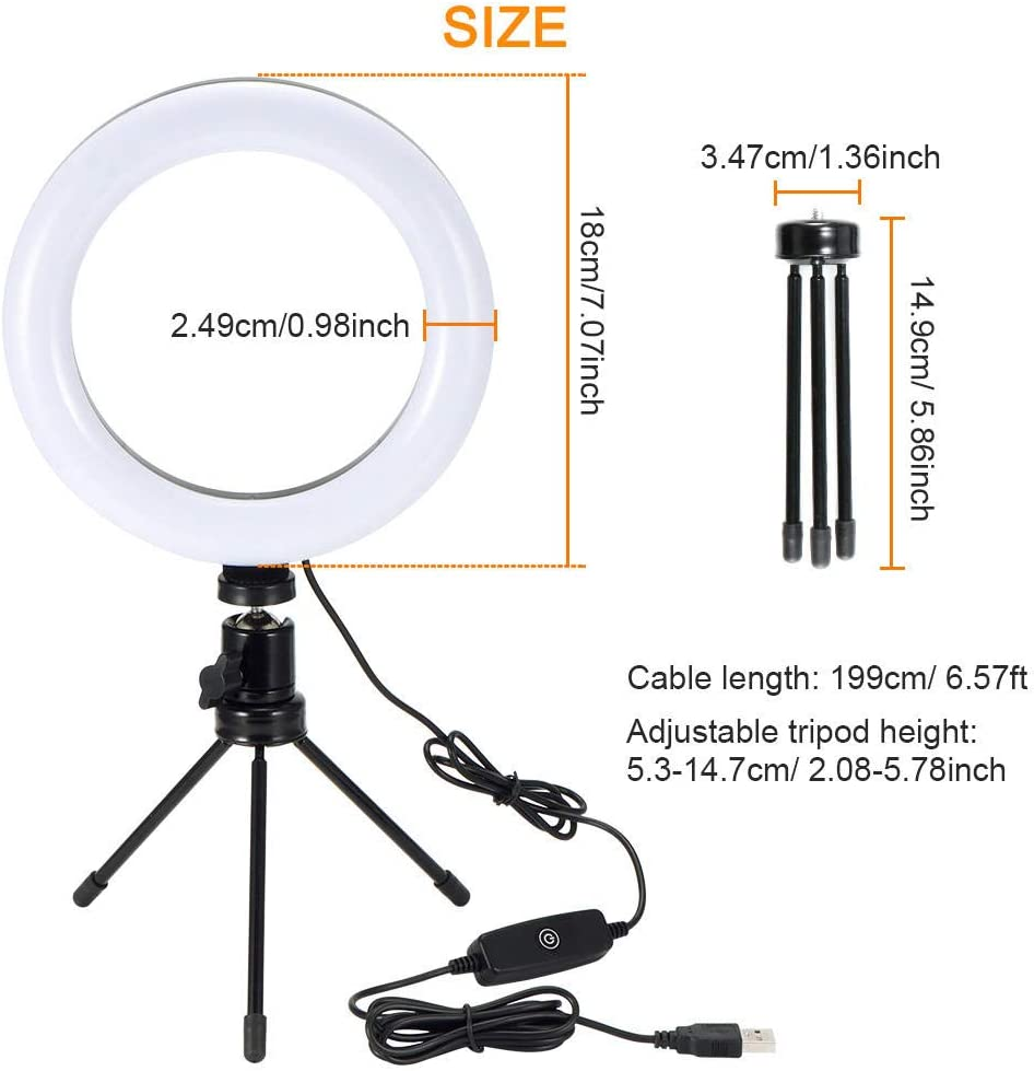 10 Inch Dimmable Photography Led Selfie Ring Light 26 Camera Photo