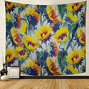 Amazon.com: ZBLX Tapestry by, Sunflowers Forever Tapestry Wall ... on