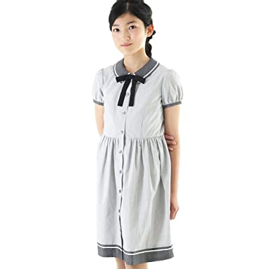 df1c63561c975 ショパン(CHOPIN) 子供 女の子 フォーマル 8836-2542 半袖 裾切り替えストライプワンピース 夏