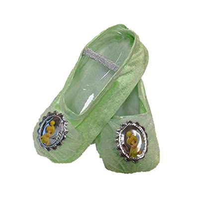 Child Tinker Bell Ballet Slippers, Green, Standard: Clothing