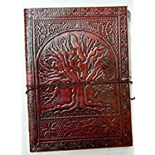ANUENT Handmade Leather Journal Notebook Refillable Diary
