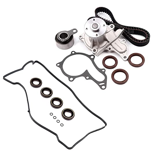 Amazon Com Cciyu Timing Belt Water Pump With Gasket Tensioner