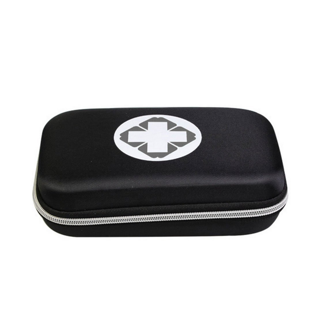 Lanticy First Aid Pouch Box, Empty Waterproof Medicine Storage Bag Portable Medical Package Emergency Medical Kit Survival Medicine Pills Pocket Container Perfect for Home Car Travel Outdoor (Black)