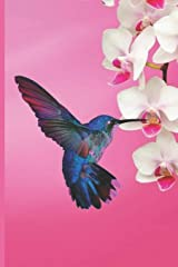 Hummingbird Journal: Pink and White Orchids and Swallowtail Butterfly cover, with Blank Lined Pages Paperback