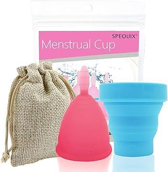 Las mujeres Copa Menstrual Conjunto, 100% silicona grado ...