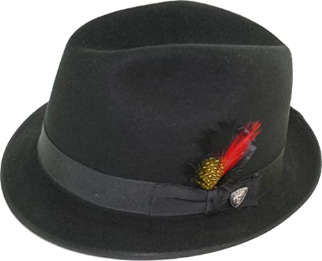 Dobbs Rocky - Wool Fedora Hat at Amazon Men s Clothing store  1bd5d11d79b