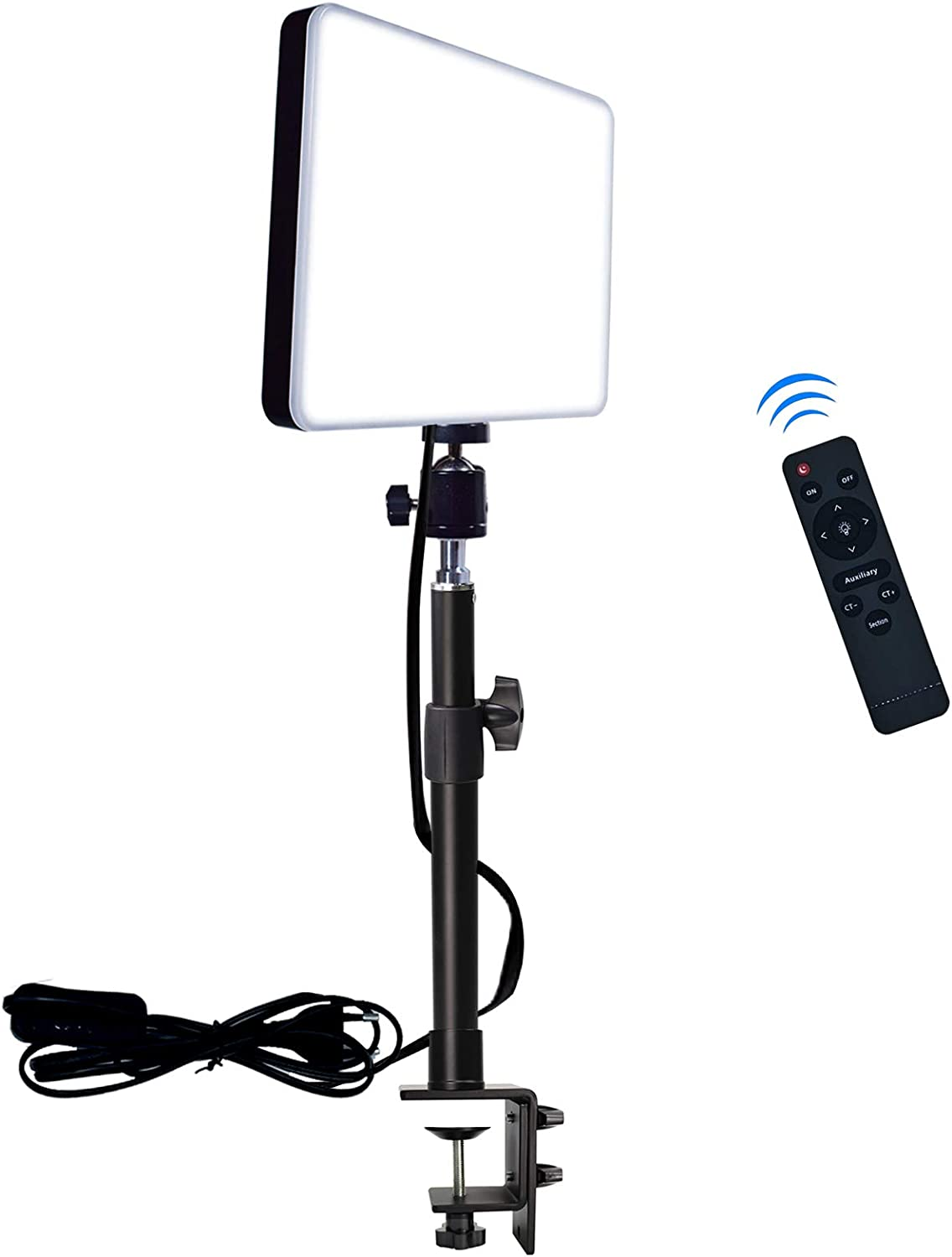 Amazon Com Led Desk Bi Color Video Light With C Clamp Stand 2700k 5700k Dimmable Wireless Remote Studio Photography Lighting Camera Photo