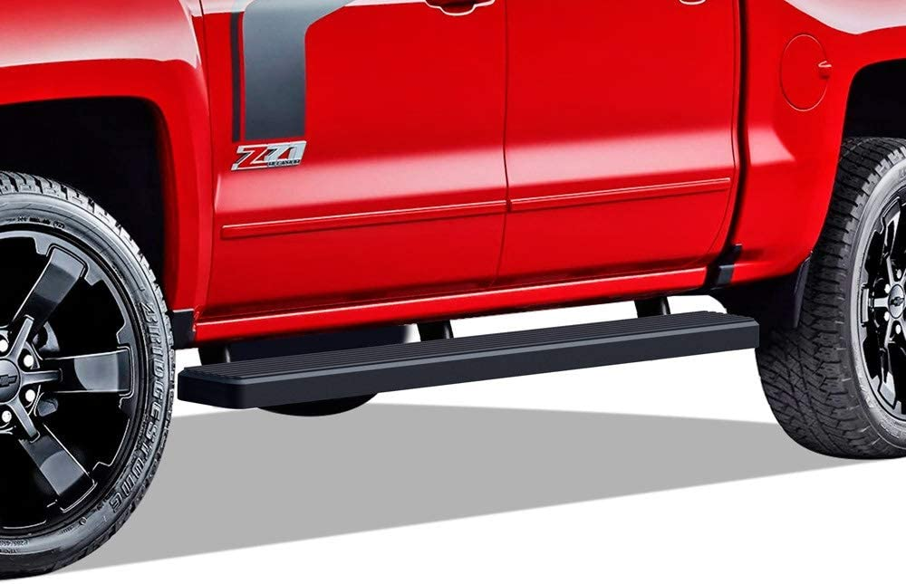 Nerf Bars Side Steps Bar Exclude 07 Classic Include 19 1500 LD APS Wheel to Wheel Running Boards 5in Custom Fit 2007-2018 Chevy Silverado GMC Sierra Crew Cab 5.5ft Short Bed /& 2019 2500HD 3500 HD