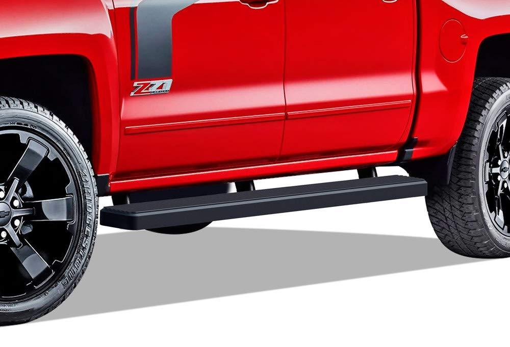 Wheel to Wheel Running Boards 5 Custom Fit 2007-2018 Chevy Silverado//GMC Sierra Crew Cab 6.5ft Bed Incl. Diesel Models with DEF Tanks Nerf Bars | Side Steps | Side Bars