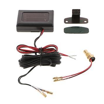 10mm Baoblaze Car LCD Digital Water Temperature Gauge Meter and Voltmeter Kits