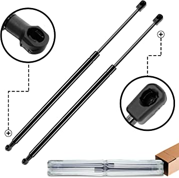 A-Preimum Rear Window Glass Lift Supports Shock Struts for Jeep Wrangler JK 2007-2010 2-PC Set