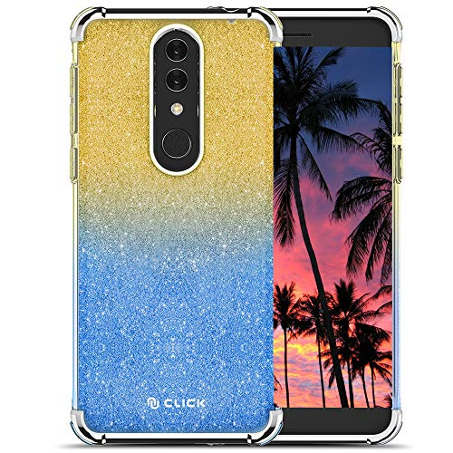Click Cases Elegant Series Compatible with Alcatel Onyx Case Slim Glitter Case with PC Metallic Bumper Glitter Gold ()