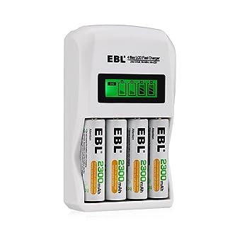 Amazon.com: EBL - Pilas AA recargables de 2300 mAh (4 cargas ...