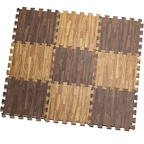 HemingWeigh Printed Wood Grain Interlocking Foam Anti