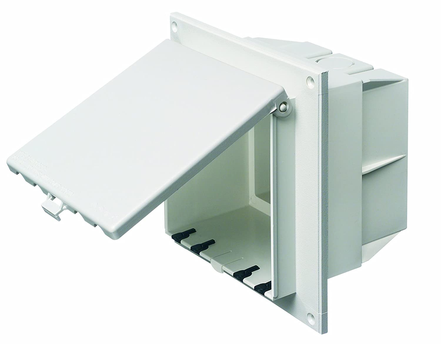 Outdoor Wiring Without Conduit Arlington Dbvr2w 1 Low Profile In Box Electrical With Weatherproof Cover For Flat Surfaces 2 Gang Vertical White Home Improvement