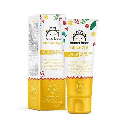 Marca Amazon- Mama Bear - Crema solar para bebés FPS 50 (Alta protección UVA