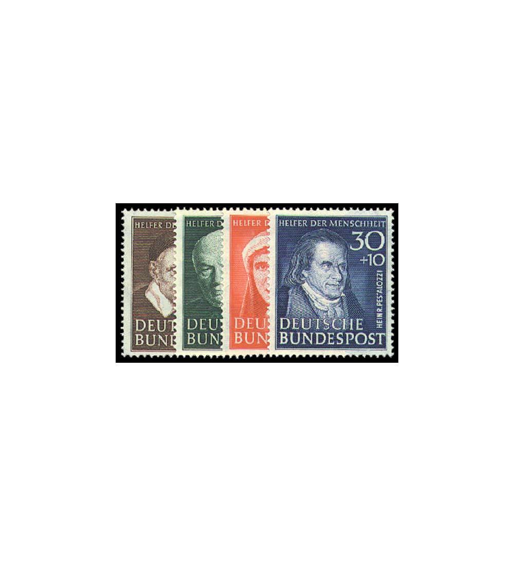 Goldhahn BRD Nr. 143-146 postfrisch Wohlfahrt 1951 Briefmarken für Sammler
