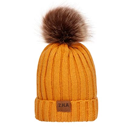 4a99365d179df Amazon.com  Midress Baby Boys Girls Winter Solid Color Knit Hat ...