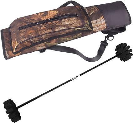 Outdoor Hunting Back Arrow Quiver Archery Bow Arrow Holder Belt Bag Camo