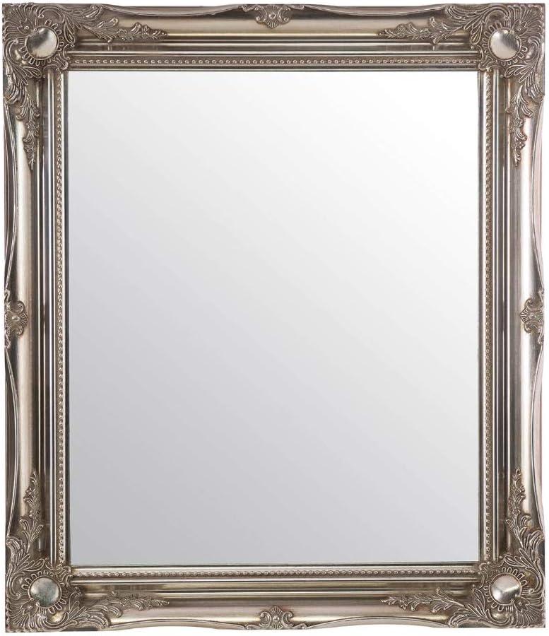 Large Glass Silver Ornate Antique Design Wall Mirror 30 X 26 76cm X 66cm Amazon Co Uk Kitchen Home