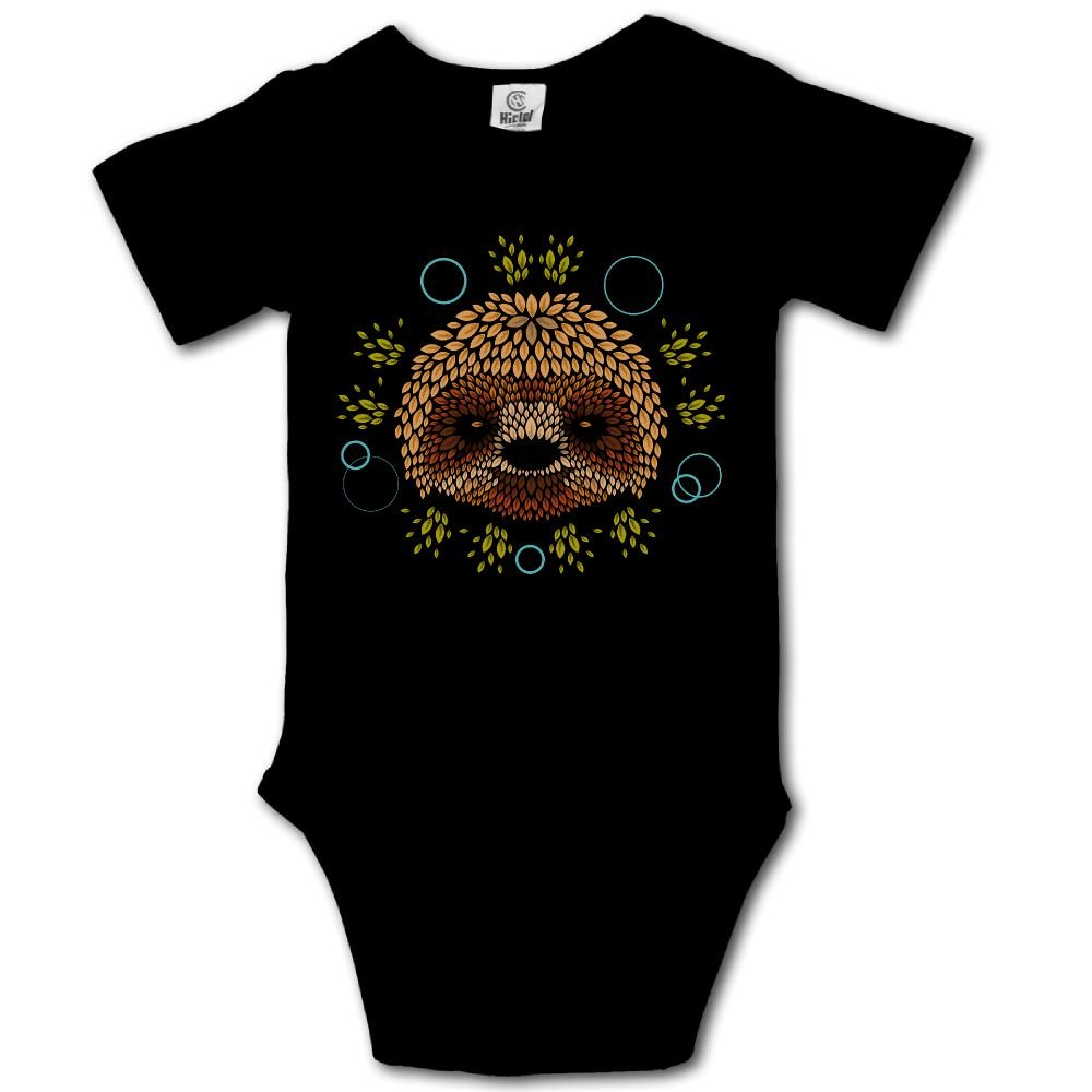 Haibaba Lazy Sloth Face Infant Climbing Short-Sleeve Jumpsuit