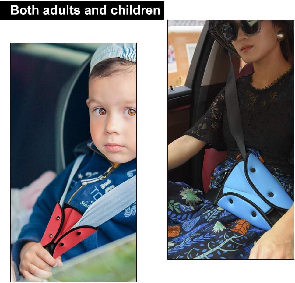 Mygoodprice Ajusteur de Ceinture de s/écurit/é pour Enfant Bleu