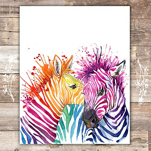 (Zebra Wall Art Print - Unframed - 8x10 | Zebra Wall Decor)