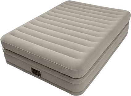 Intex 64446 - Colchón hinchable fibertech doble capa, 152x203x51 cm