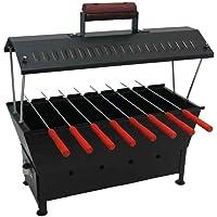 Fabrilla Hut Shaped Compact Charcoal Barbeque Grill Set (Black)