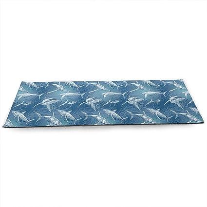 Amazon.com : TAOHJS76 Pro Non Slip Yoga Mat, Shark Sea Fish ...