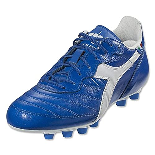 online retailer 3ebfc 2355e Diadora Men s Brasil Italy LT MD Soccer Cleats, Blue Calf Leather,  Polyurethane, ...