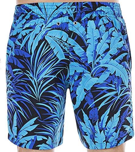 TALLA L. HOM Palmier Beach Boxer Pantalones Cortos de baño premamá para Hombre
