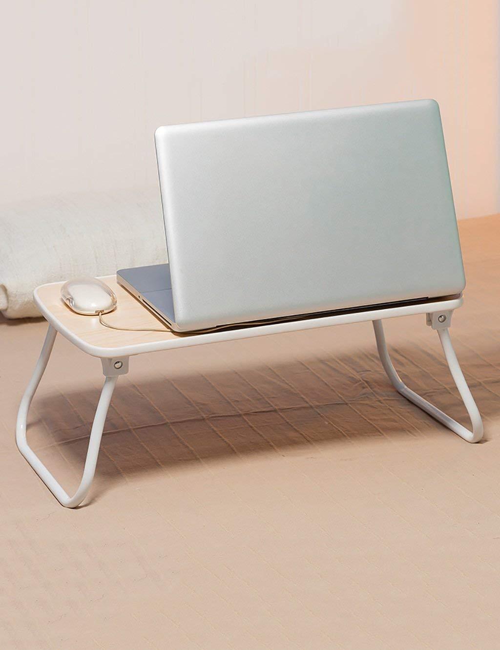 mejor moda blanco LWH 52.630.522.8cm XHCP Mesa Plegable para para para computadora portátil Mesa de Estudio Simple (4 Colors Disponibles) (Color  blancoo, Tamaño  L  W  H  52.6  30.5  22.8cm)  lo último