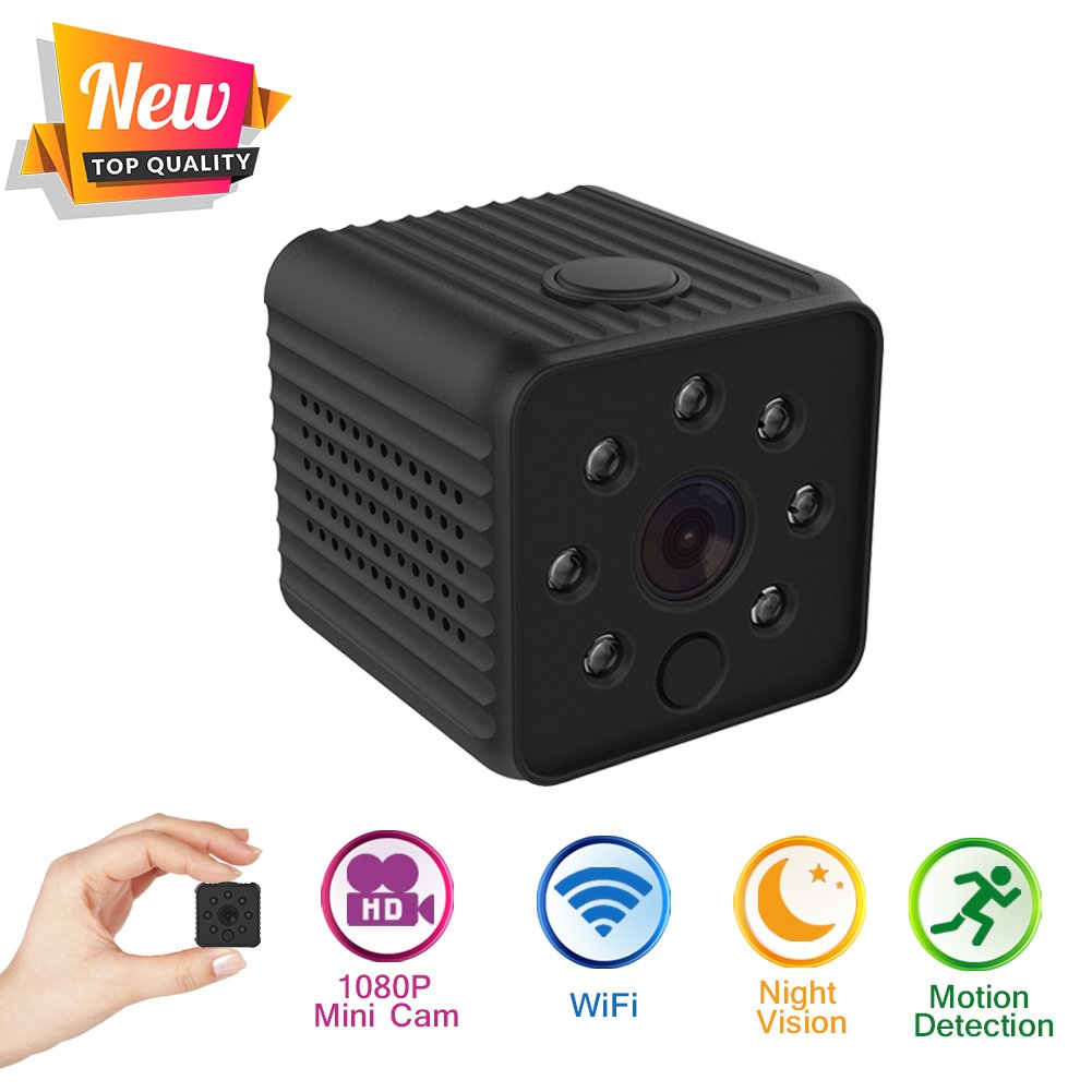 Mini Hidden Camera 1080P Wireless Spy Camera HD Small Nanny Camera Surveillance by Davola with Audio, Night Vision and Motion Detection for Office and Home Security