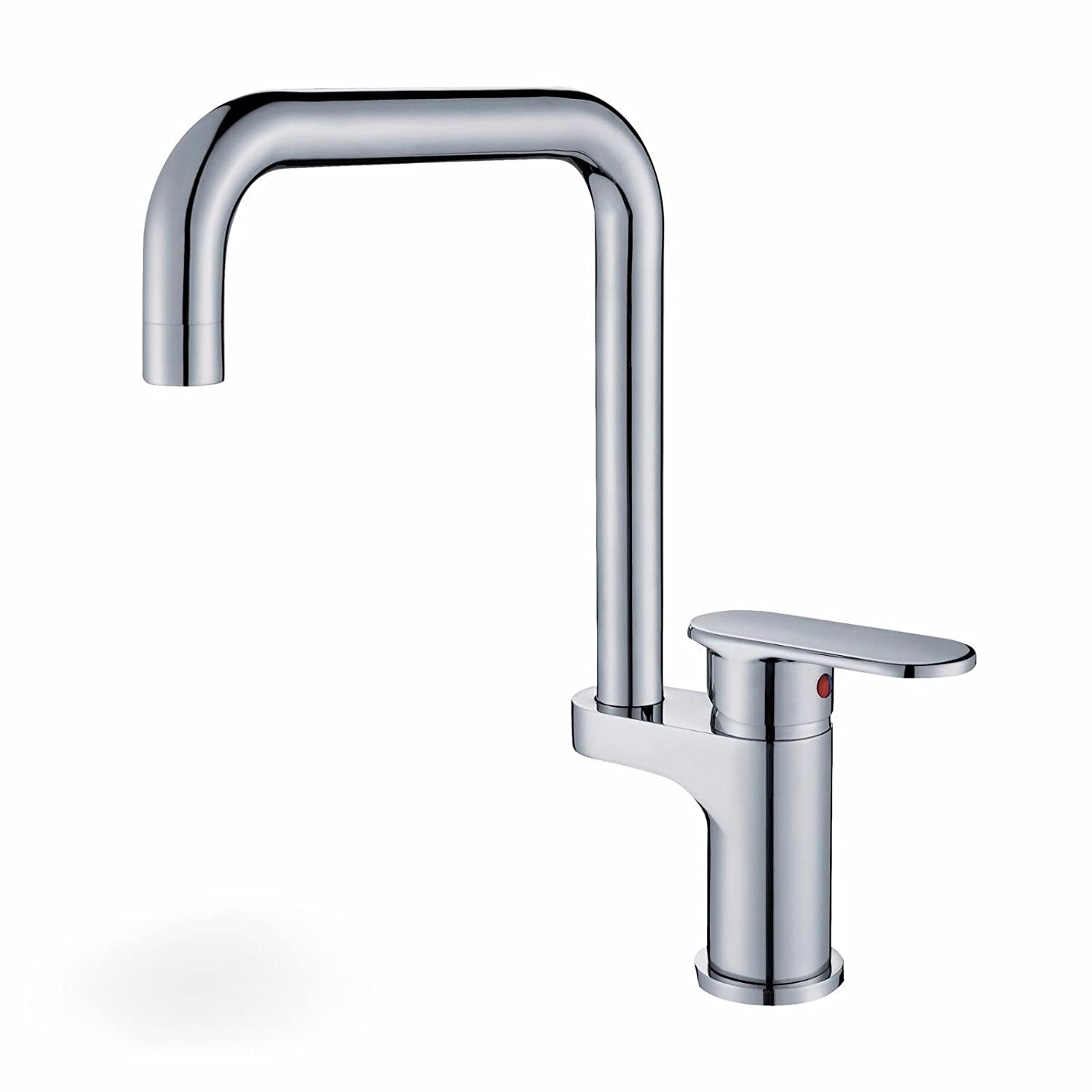 AQMMi Basin Sink Tap Bathroom Bar Faucet Brass Hot and Cold Water Bathroom Basin Sink Faucet