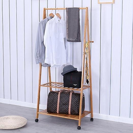 LBMy Percheros Perchero Percha de Aterrizaje de Dormitorio Percha de bambú extraíble Perchero Creativo Simple de la Ropa percheros Burro (Tamaño : 60cm): Amazon.es: Hogar