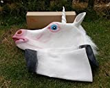 Image of Laylala Novelty Unicorn Head Latex Mask Plus Unicorn Hooves Gloves