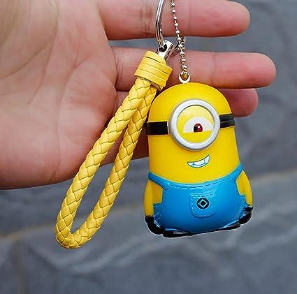 DEBON Despicable Me Minions llavero etiqueta teléfono celular 3D ...
