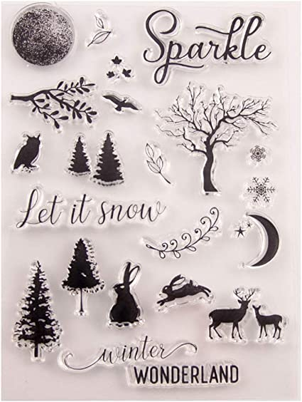 Seaskyer Trees DIY Silicone Clear Stamp Cling Seal Scrapbook Embossing Album Decor New
