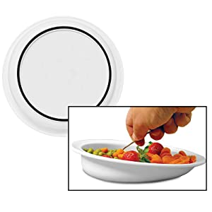 """Sammons Preston Hi-Lo Scoop Plate, 9"""" Scooped Dish with Wall, Non-Slip ADL Eating Aid for Children, Elderly, Disabled, Non Skid Cutlery Assistance Device for Motor Control, Scooper Bowl"""