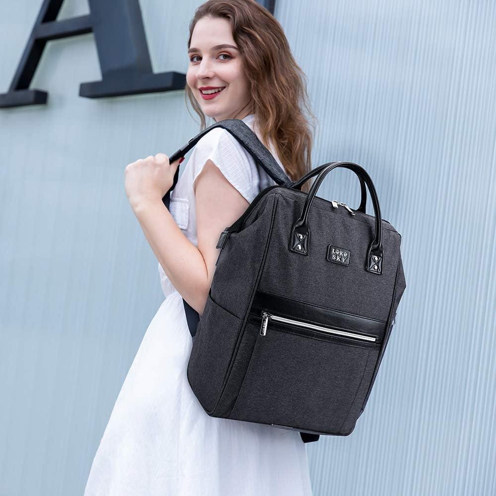 Lekesky Laptop Backpack 15.6 Inch School Backpack Casual Daypack Women and Men
