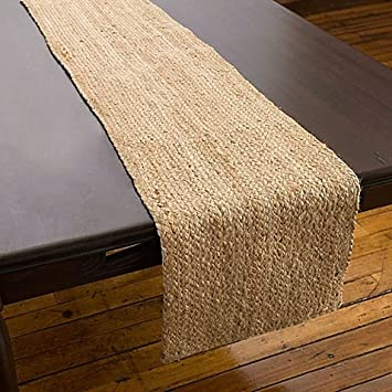 Willow Table Runner In Natural | 54 Inch |100% Jute