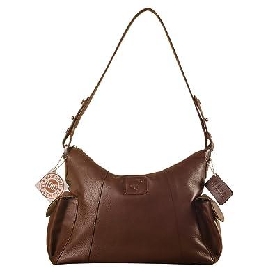 eZeeBags YA850v1 women s leather handbag. Large size, full width front,  rear   2 aaa288cfff