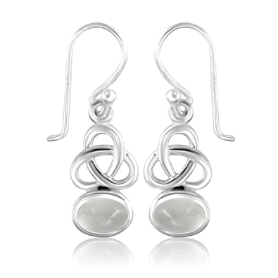 DTPSilver - 925 Sterling Silver Celtic Trinity Knot Studs Earrings