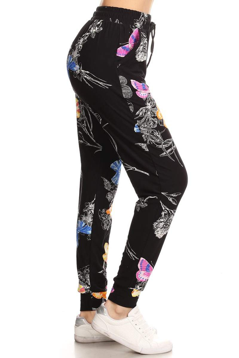 3f39d4575 Leggings Depot Women s Printed Solid Activewear Jogger Track Cuff Sweatpants  Inner Pockets product image