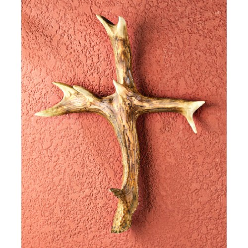 Mountain Mike's Reproductions Antler Holy Shed Cross
