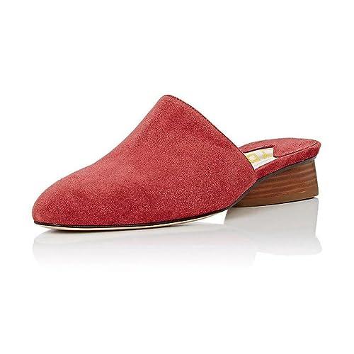 YDN - Zapatillas sin talón tacón bajo para Mujer, Rojo (Rojo), 11 B(M) US: Amazon.es: Zapatos y complementos